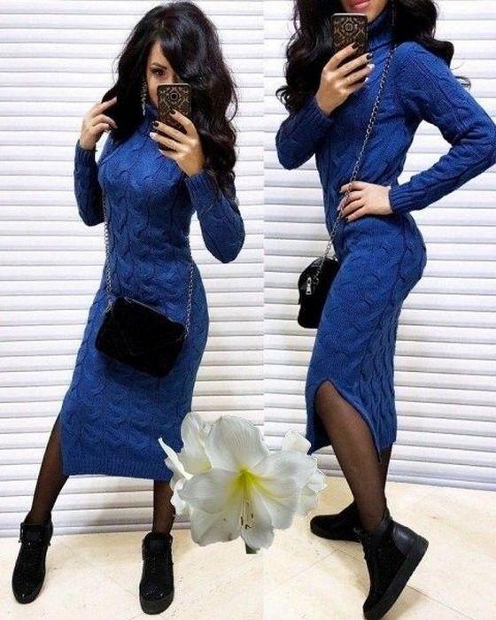 Стильное вязаное платье Chanel